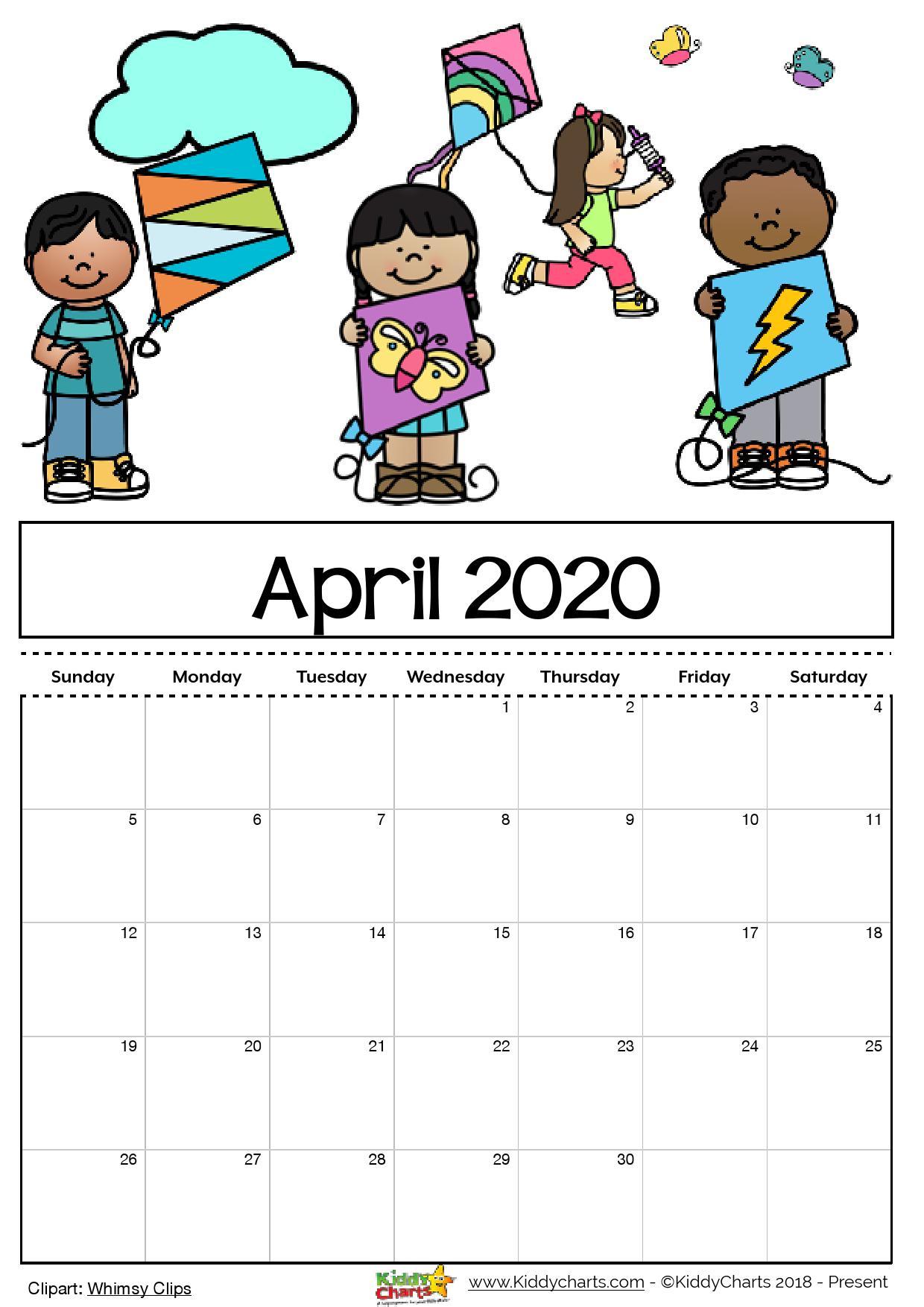 Free Printable Calendar For Kids Including An