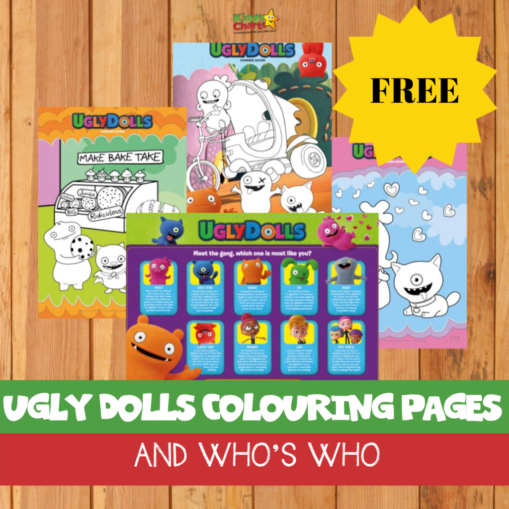 Free Ugly Dolls Colouring Pages And Who S Who