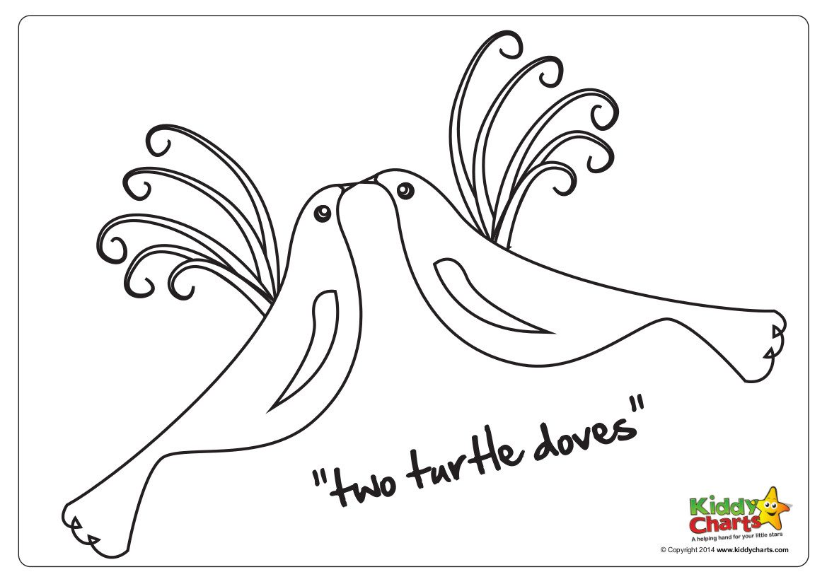 On The Second Day Of Christmas Two Turtle Doves