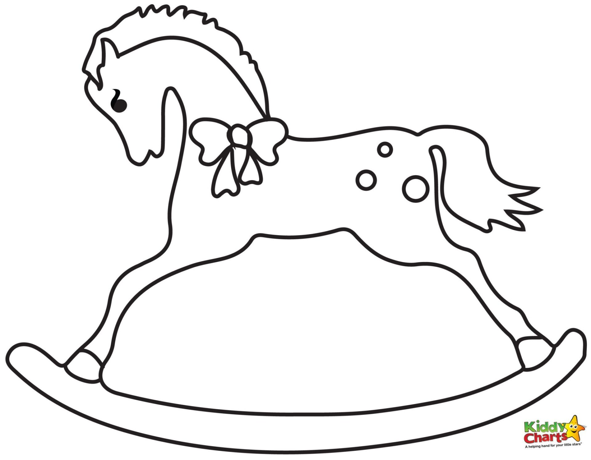 rocking horse coloring pages