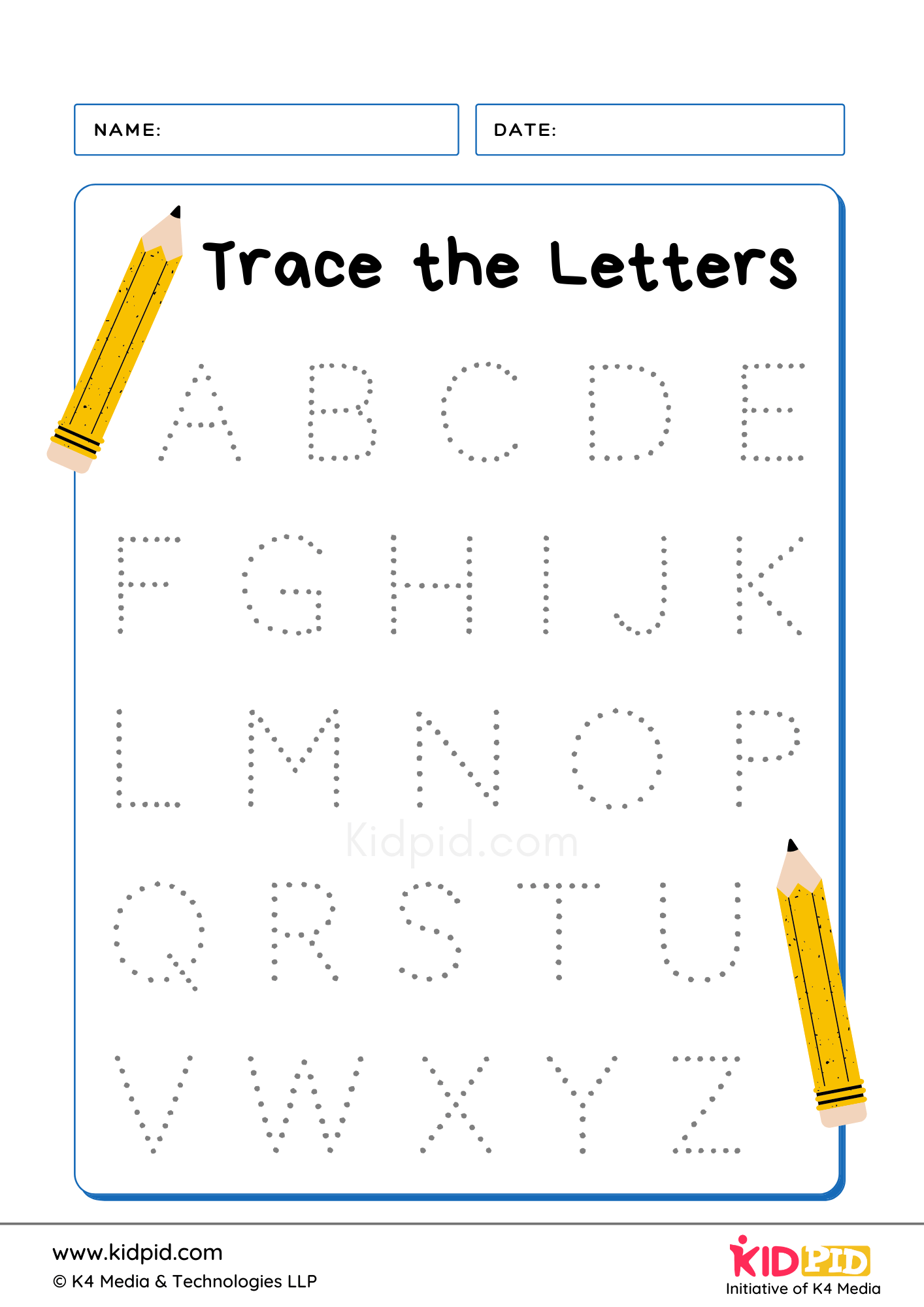 Tracing Letter Writing Foundational Worksheet