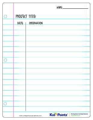 Observation Record Worksheet