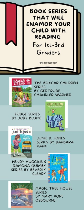 Lovely Book Series for 1st- 3rd Graders Infographic- KIDPRESSROOM