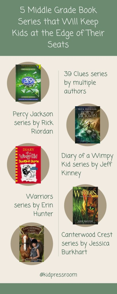 Middle Grade Book Series to Thrill Kids Infographic - KIDPRESSROOM