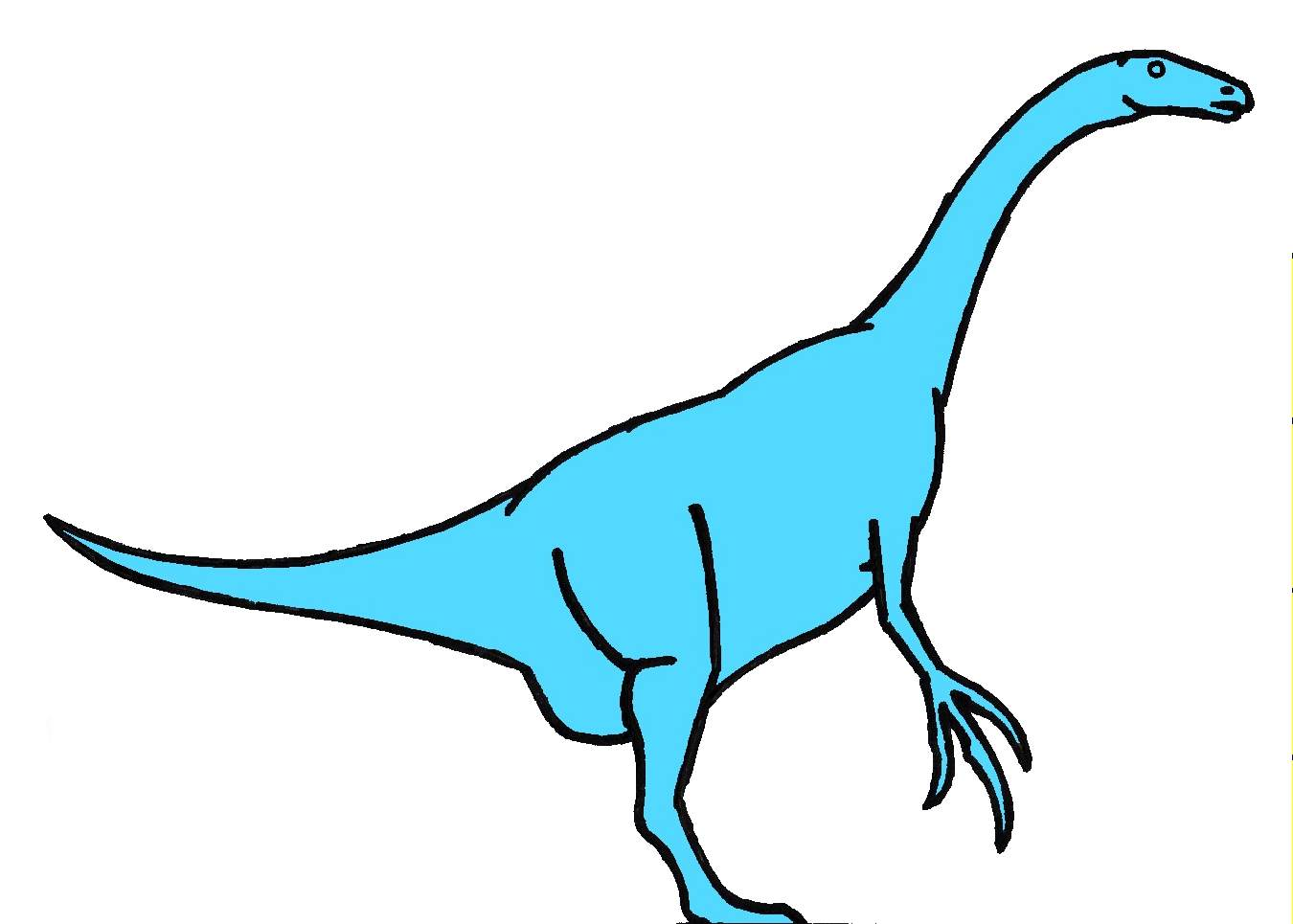 therizinosaurus cartoon dinosaur public domain