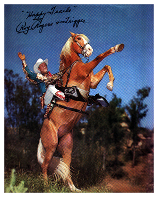 'Roy Rogers on rearing Trigger'