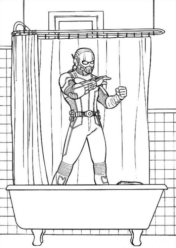 kidsnfun   coloring pages of ant man