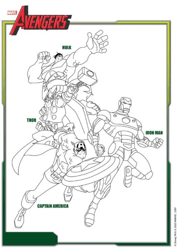 free nick fury from avengers coloring pages