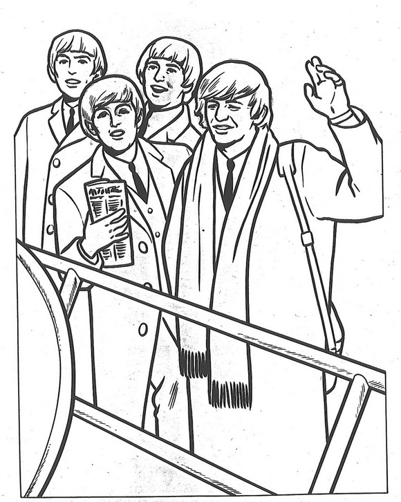 14 Coloring Pages Of Beatles