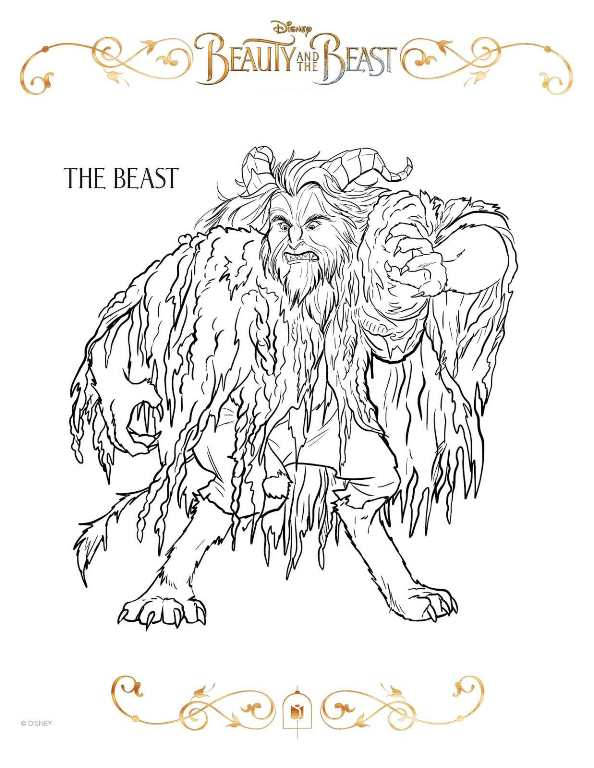 Kids N Fun Com Coloring Page Beauty And The Beast 2017 Beast