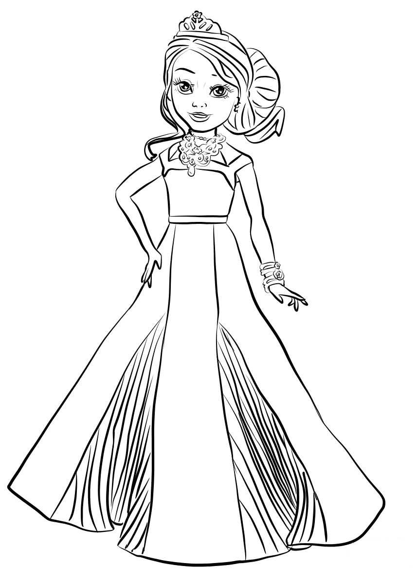 Kids N Fun 15 Coloring Pages Of Disney Descendant Wicked World