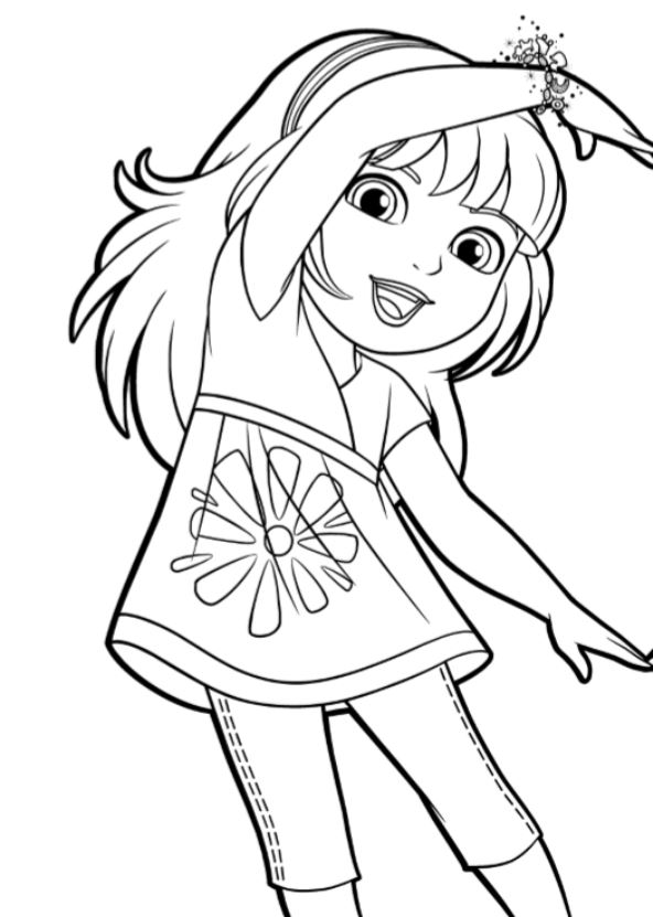 6 Coloring Pages Of Dora And Friends