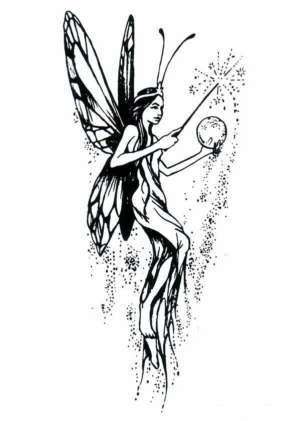 Kids N Fun Com 40 Coloring Pages Of Fairies