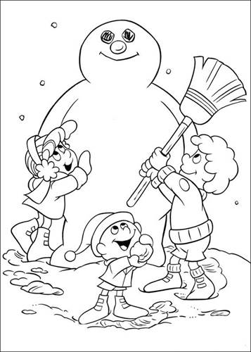 kidsnfun  24 coloring pages of frosty the snowman
