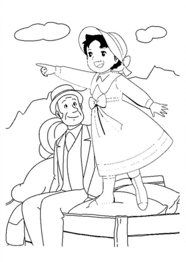 17 Coloring Pages Of Heidi Girl Of The Alps