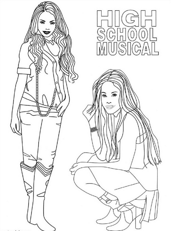 high school musical coloring pages # 6