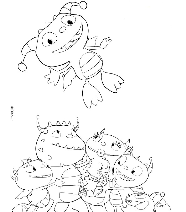 11 Coloring Pages Of Henry Hugglemonster