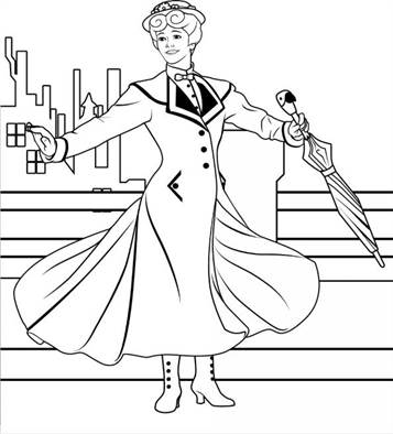 mary poppins coloring pages # 8