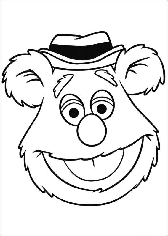 kidsnfun   coloring pages of muppets