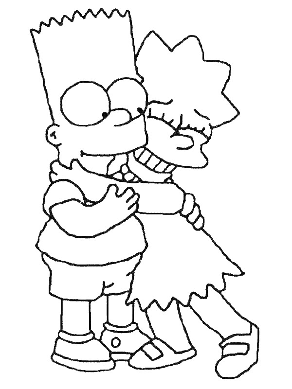 kids n fun com 58 coloring pages of simpsons