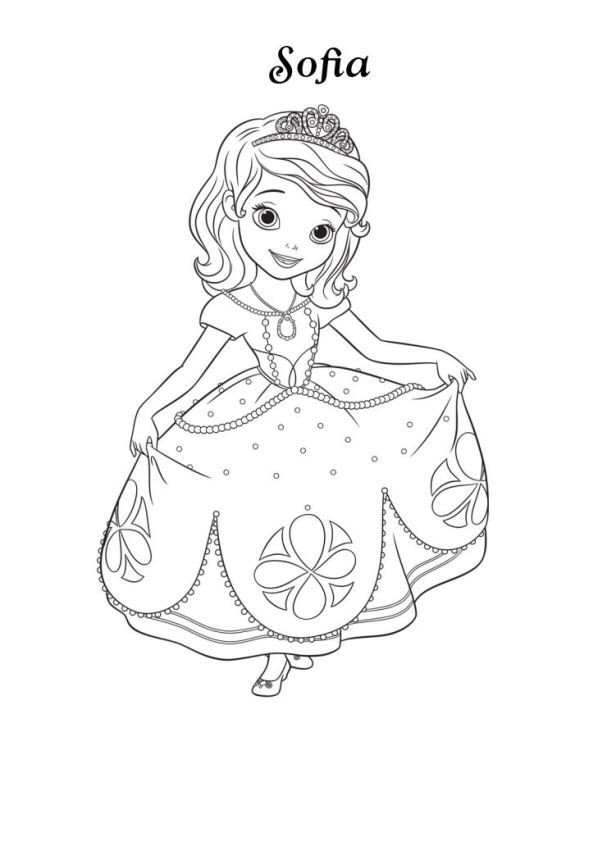 13 Coloring Pages Of Sofia The First