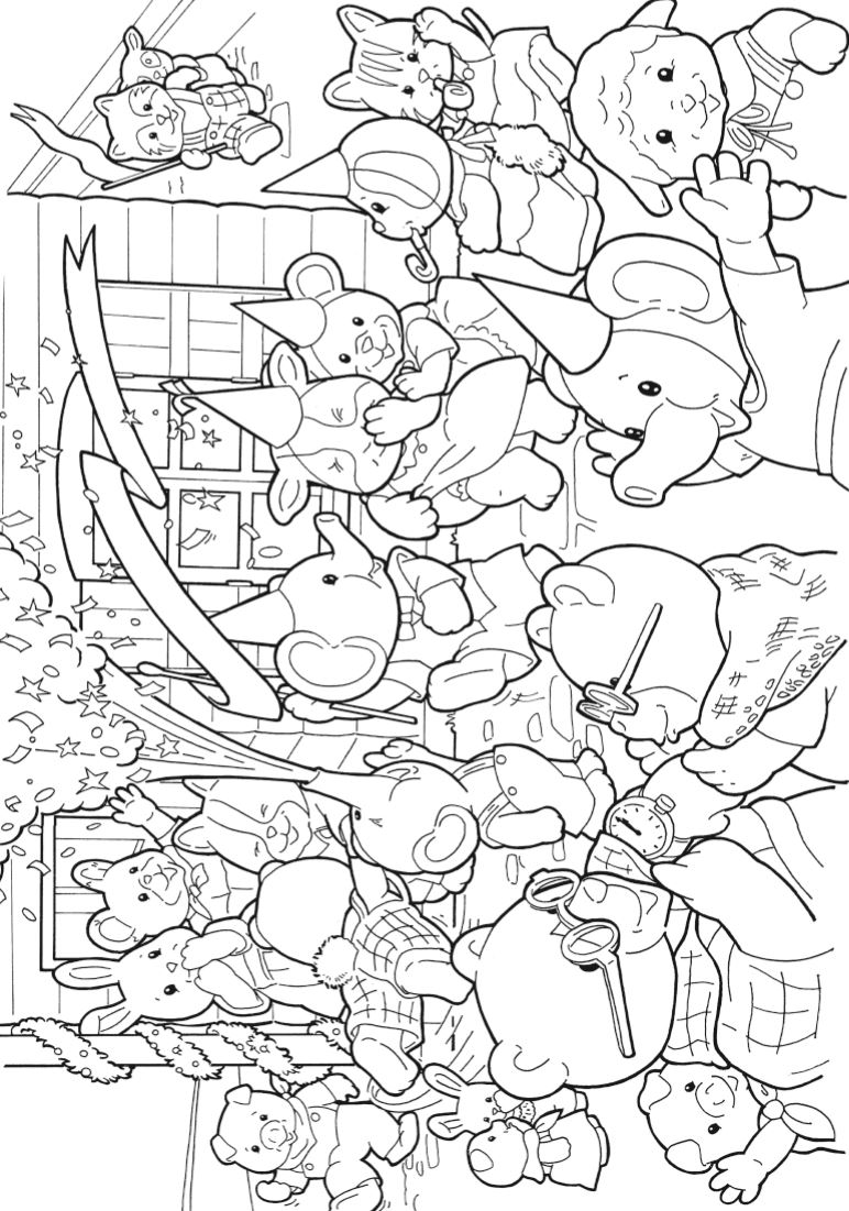 kidsnfun   coloring pages of calico critters