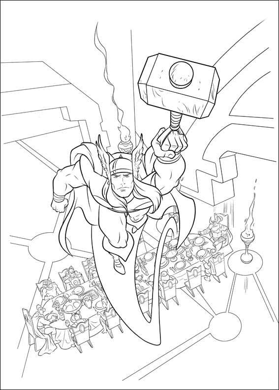 thor coloring page # 77