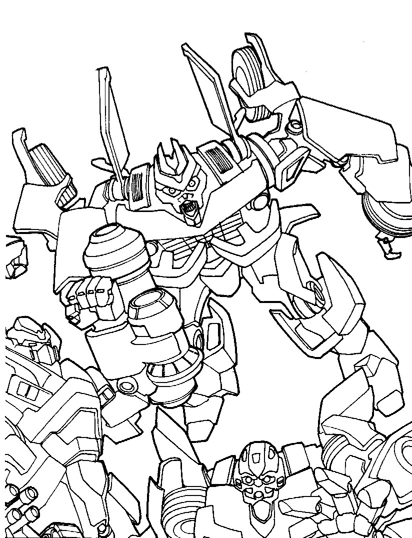 Kids N Fun 33 Coloring Pages Of Transformers