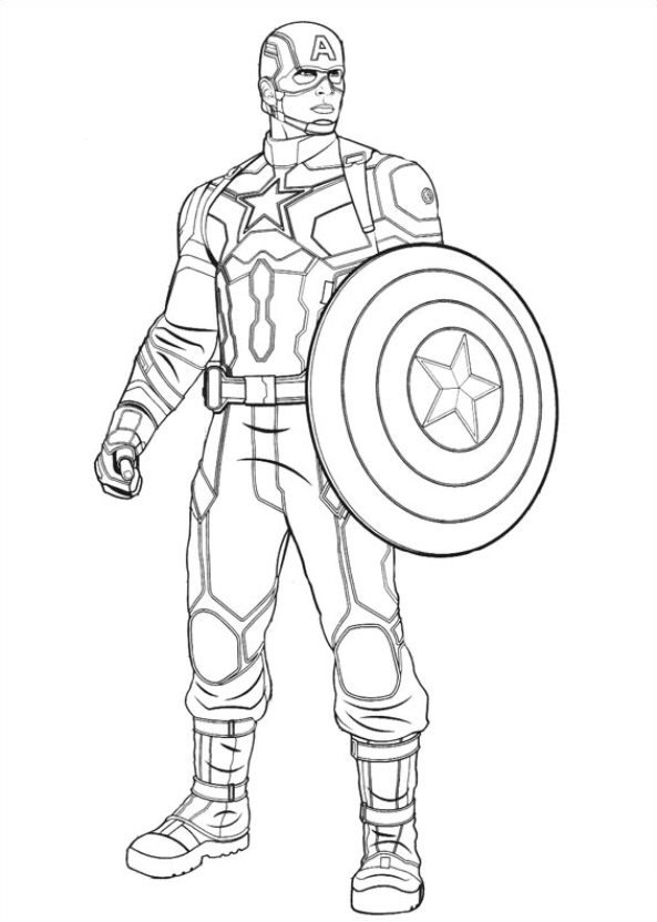 captain marvel coloring pages free coloring pages printable