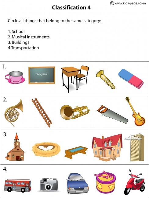 Classification4 Worksheet