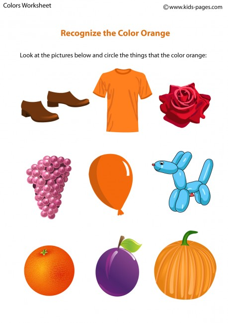 Color Orange Worksheet