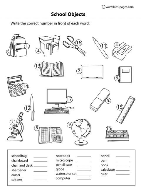 Guía 13 Classroom Objects Objetos Del Salón Agua Bonita 2015