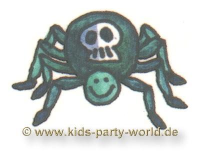 Mini Tattoo Totenkopf Spinne
