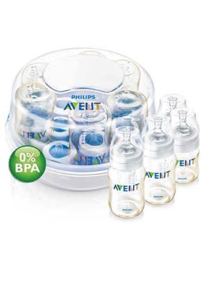 avent microwave steam sterilizer set pes premium line bpa free