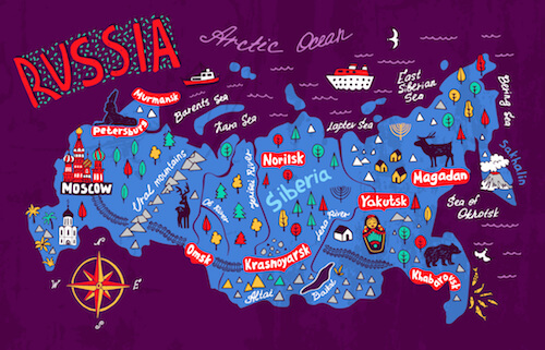 Moscow Map Russia And Sochi