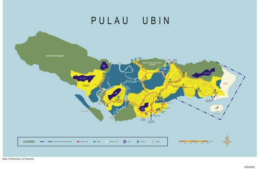 (Click the image above to view the map of Pulau Ubin) Map