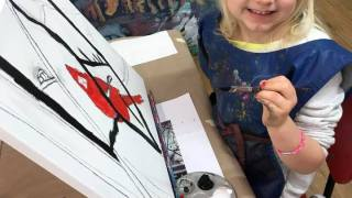 painting with an easel