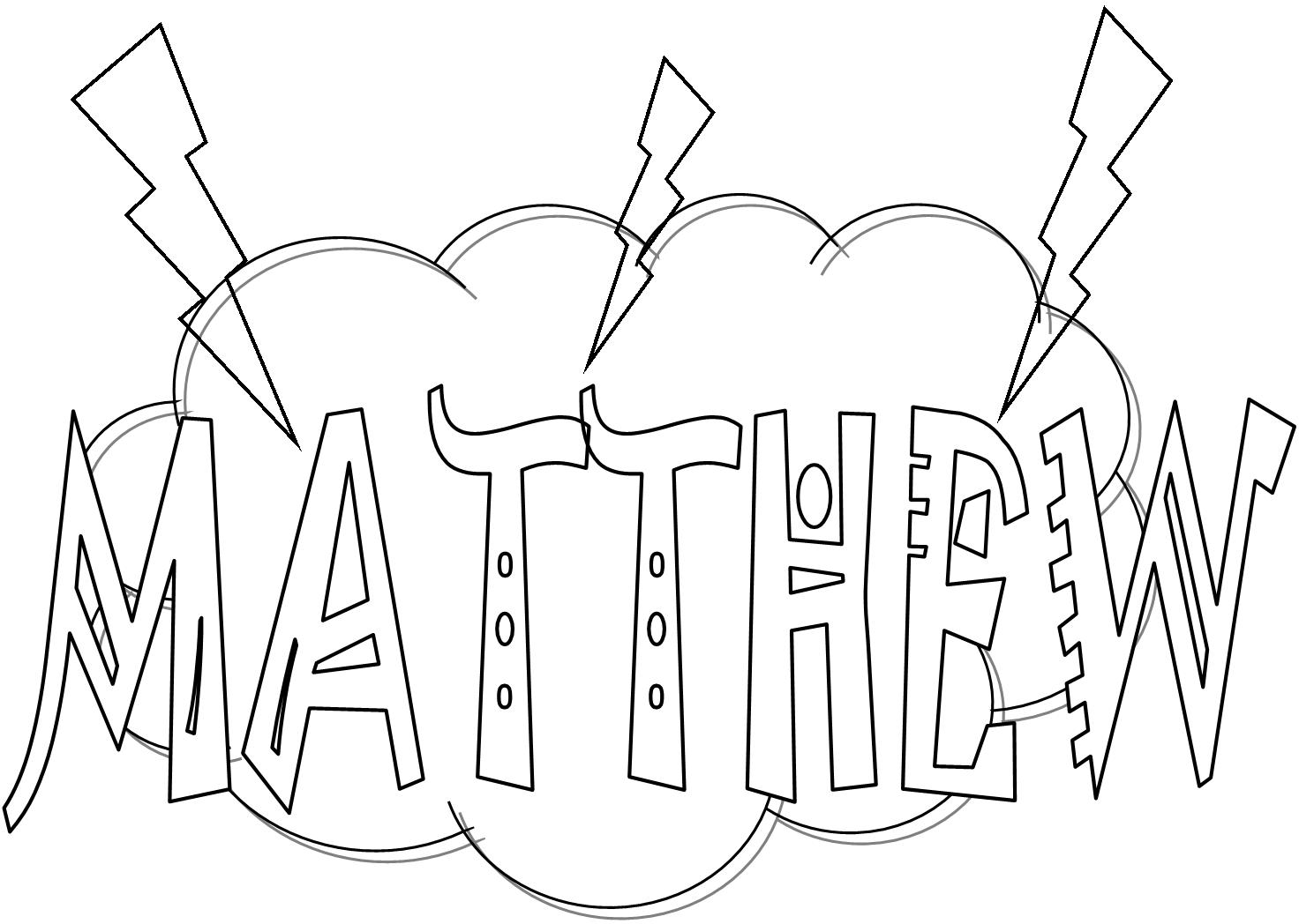 Bible Coloring Pages Matthew Books Of The Bible