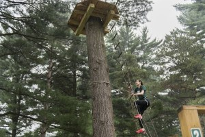 At Go Ape, ziplining is fun, by doing it together with your kids can be life changing. Photo by Erika Gidley.