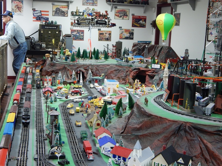 Toy train layout at the Western Pennsylvania Railroad Museum. Photo by Krystia Nora