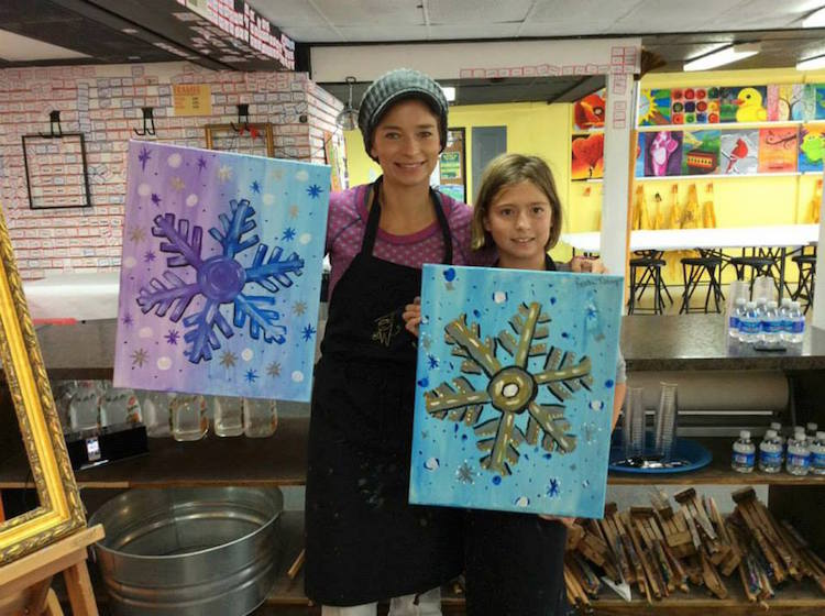 Family art time at Paint Monkey, Photo courtesy of Paint Monkey
