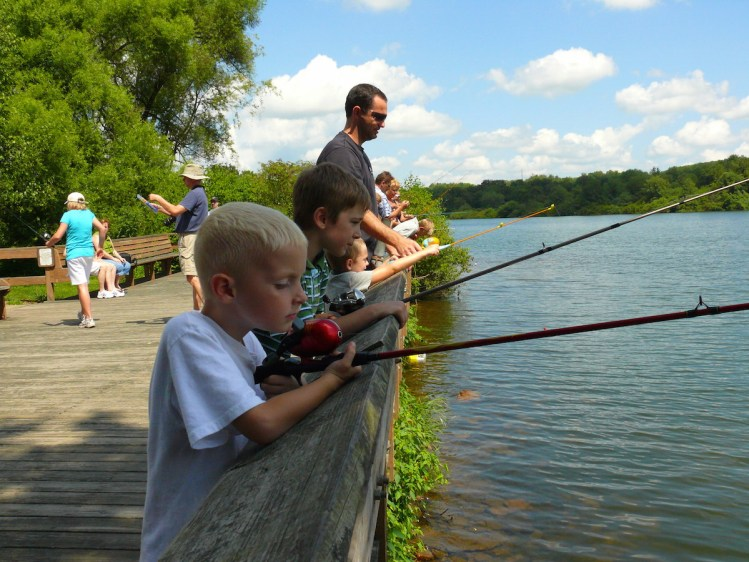 Fishing at Moraine State Park, Photo courtesy of Moraine State Park