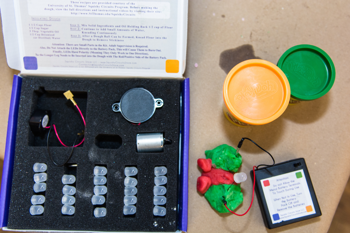 Kidsburgh Creates Steam Projects With Nina Barbuto Of Assemble How To Make Squishy Circuits And Batteries Dough Diy 2