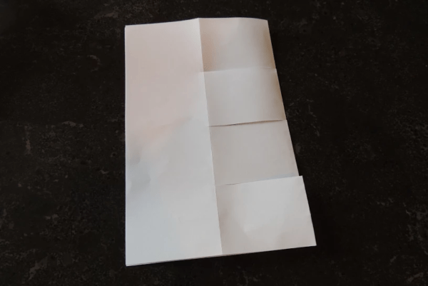 Maker monday magic greeting card pittsburgh is kidsburgh open the paper and fold the outer edges in so the paper is divided equally into 4 sections repeat this again with the other two pieces of paper m4hsunfo