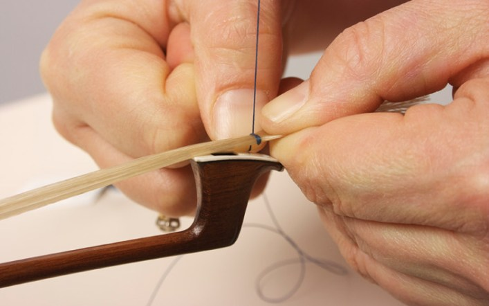 HOW TO REHAIR A CELLO BOW; EASY 3 STEPS GUIDE
