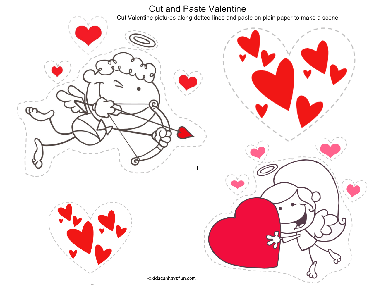 Valentine S Day Cut And Paste Printable