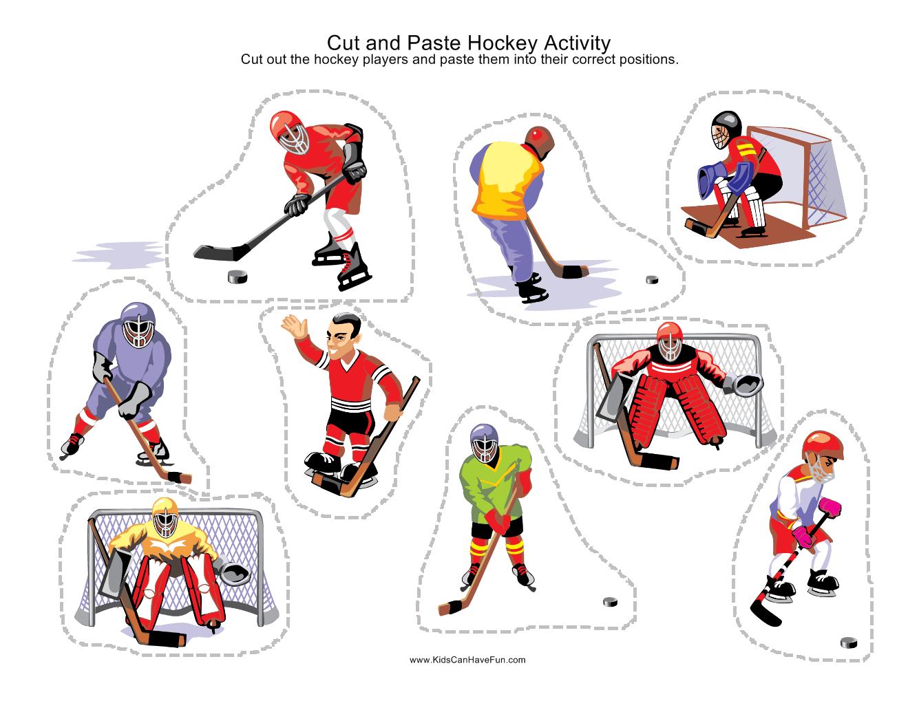 Cut And Paste Sport Scenes