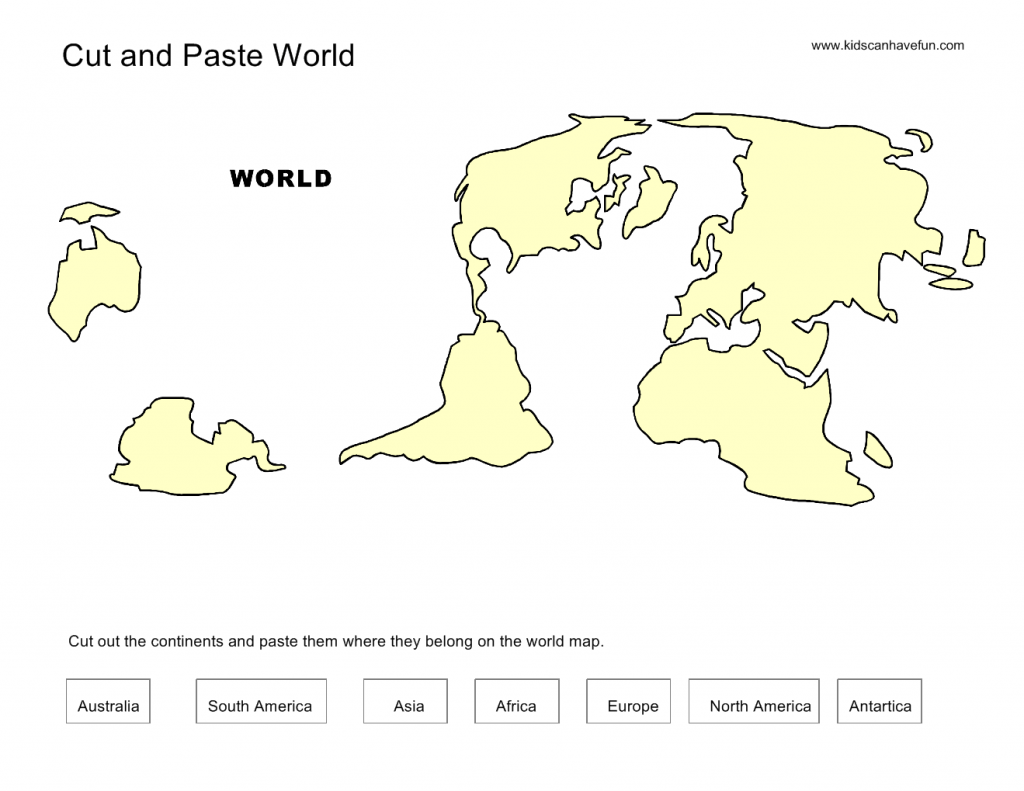 Map Cut And Paste Worksheets