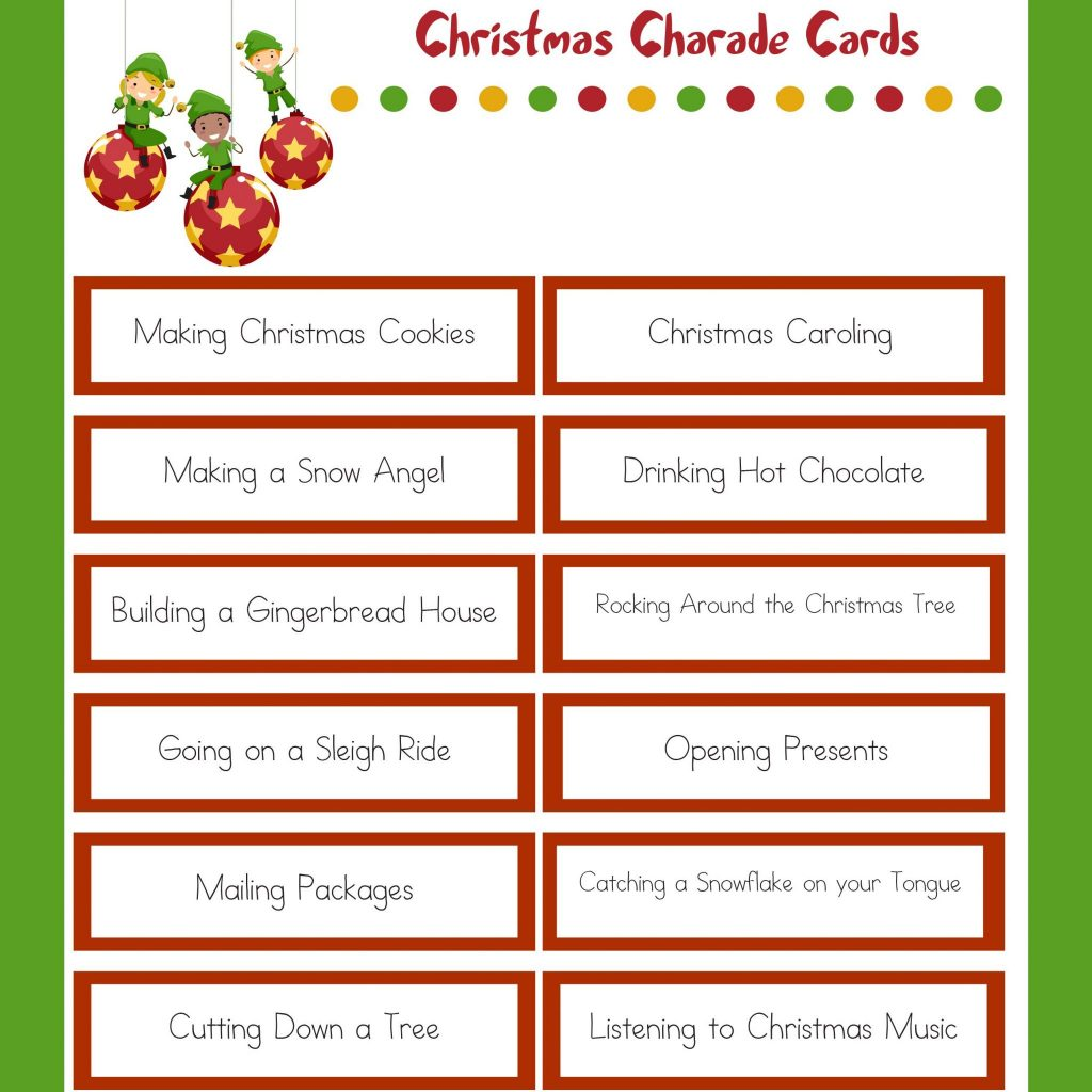 Christmas Charades 1 E Kids Connection