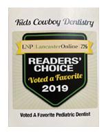 kids-cowboys-pediatric-dentistry-lancaster-pa-award_2019